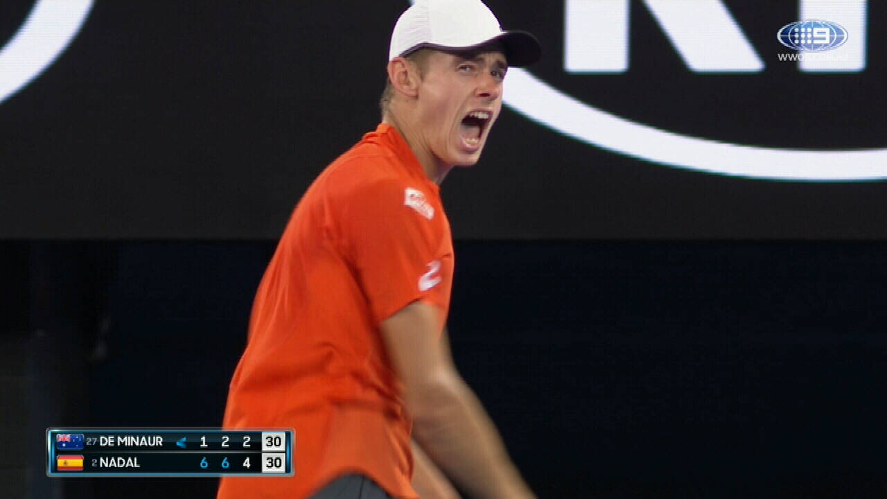 De Minaur wins epic rally against Nadal