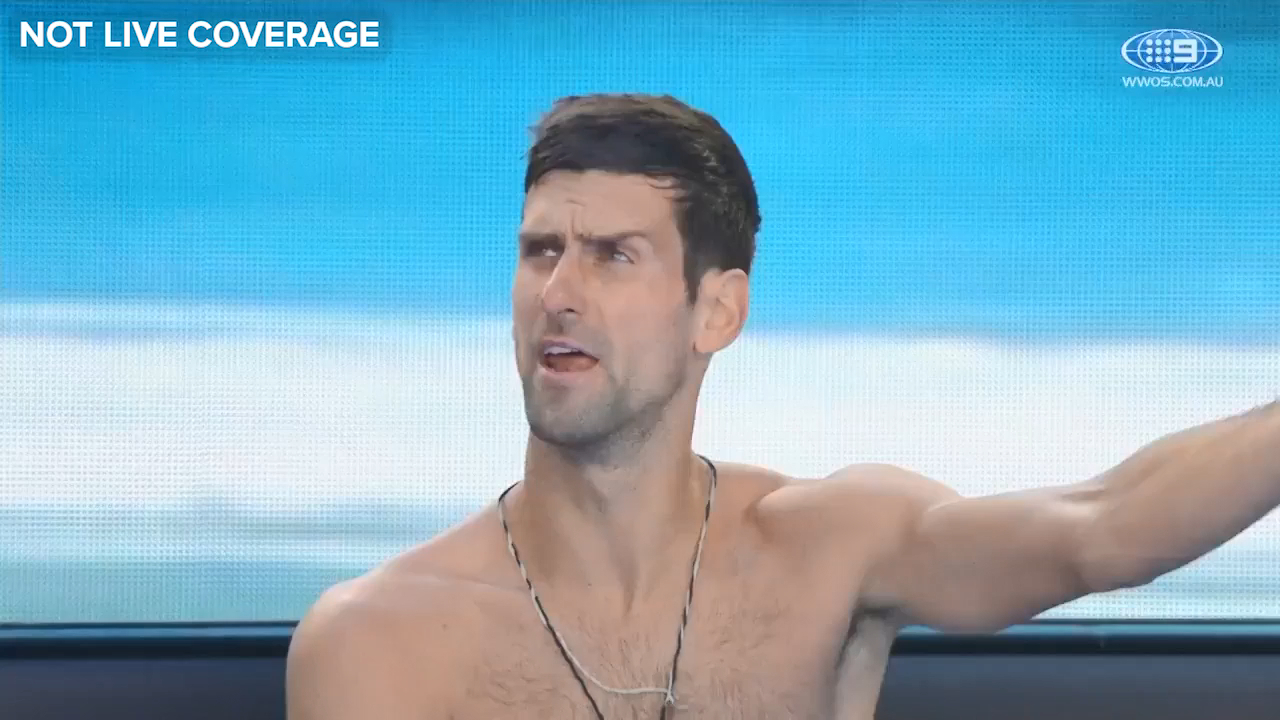 Djokovic blows up over lighting