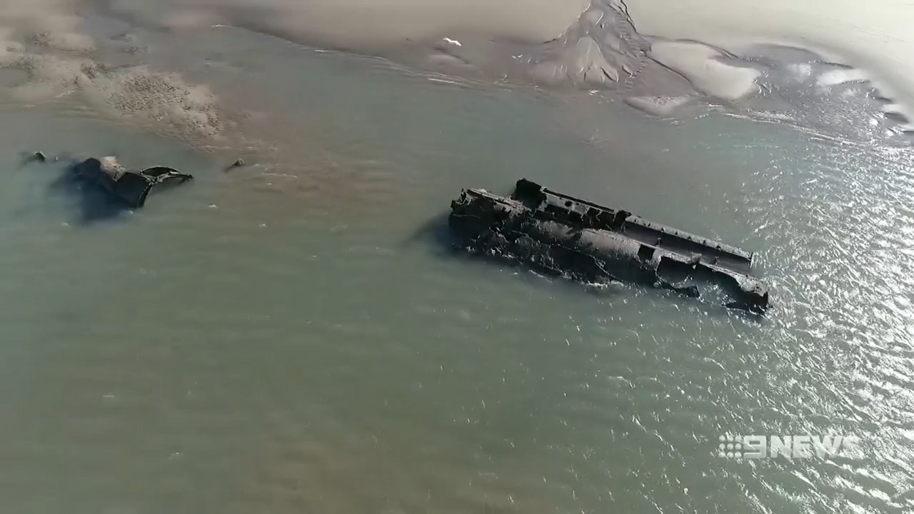 WWI submarine revealed off the coast of France