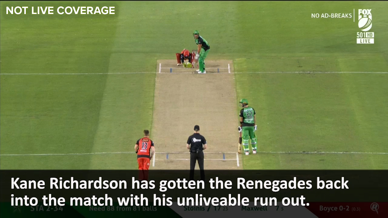 Richardson's stunning run out