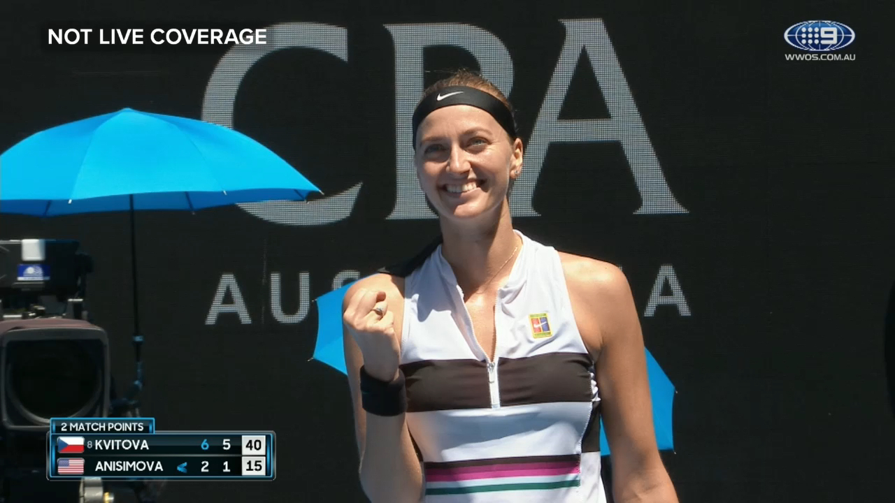 Kvitova into quarter-finals