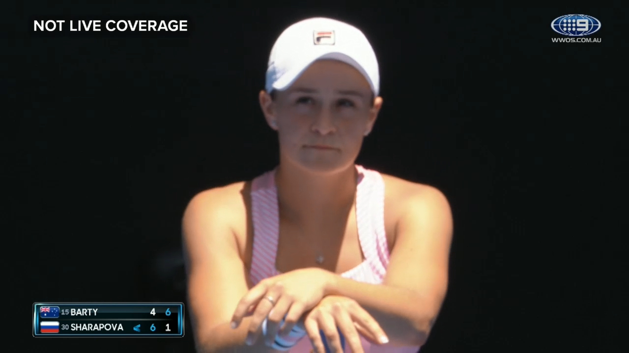 Barty annoyed by Sharapova disappearance