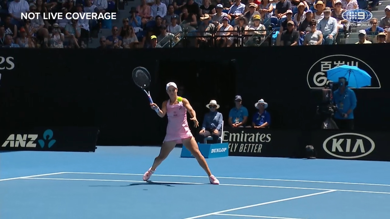 Barty's flawless drop shot vs Maria