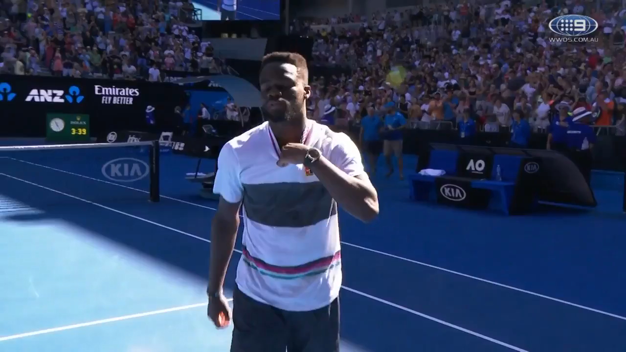 Birthday boy Tiafoe breaks down