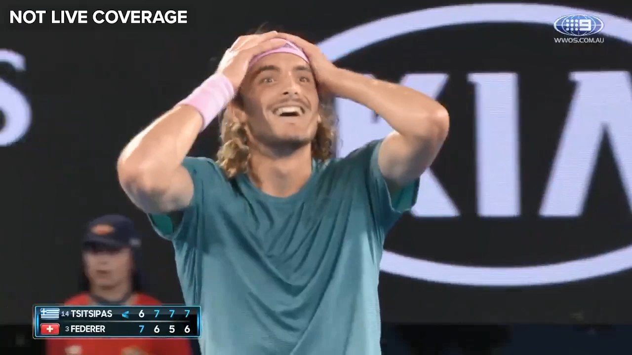 Tsitsipas eliminates Federer