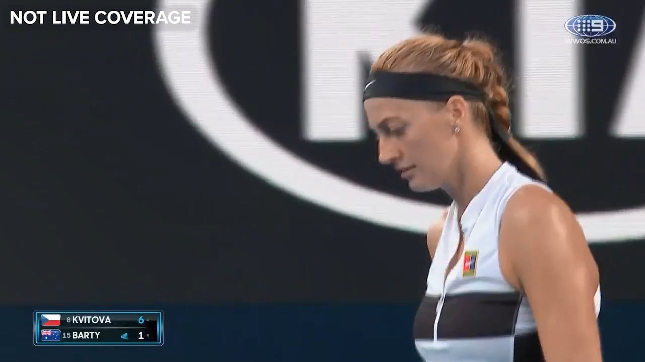 Kvitova runs away with the first