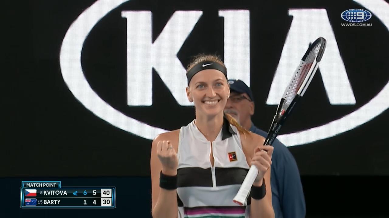 Kvitova ends Barty Party