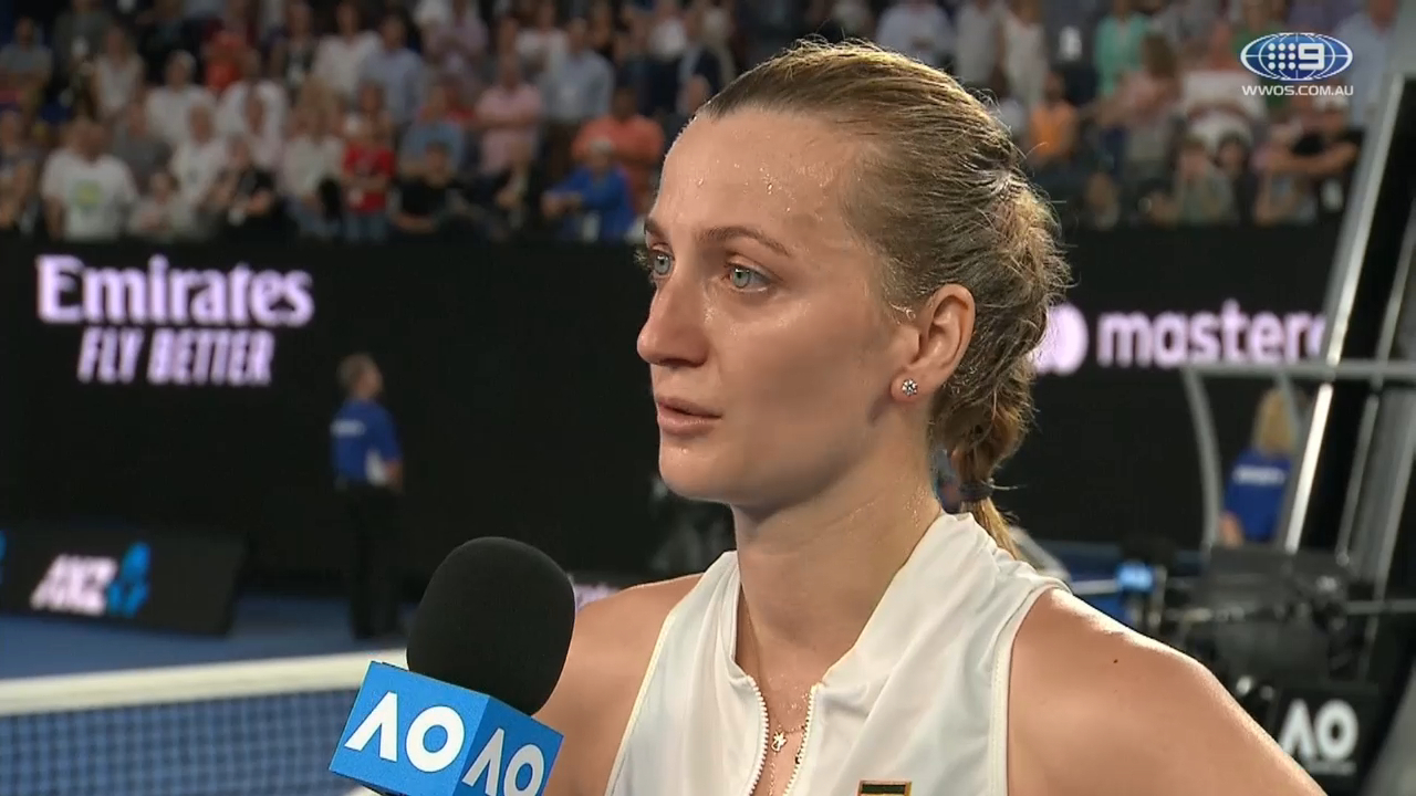 Red-hot Kvitova blazes past Collins into Australian Open final