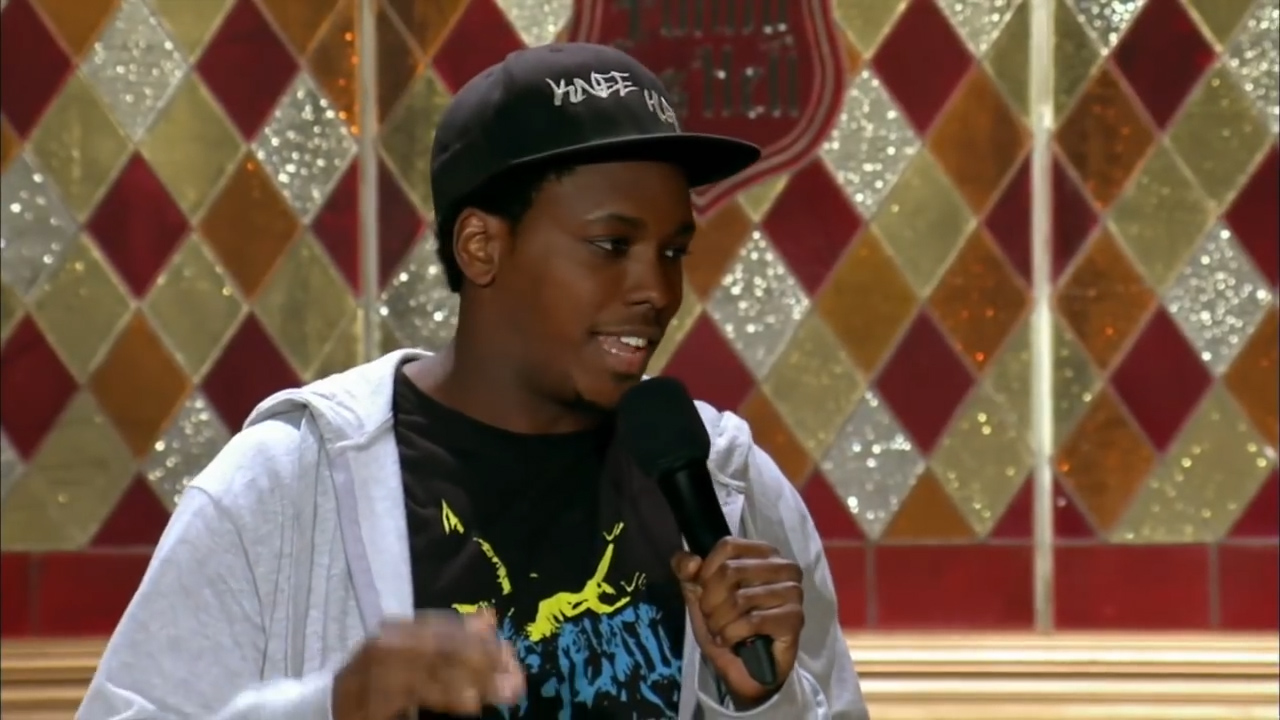 Kevin Barnett does stand-up at the 2013 Just for Laughs Festival in Montreal