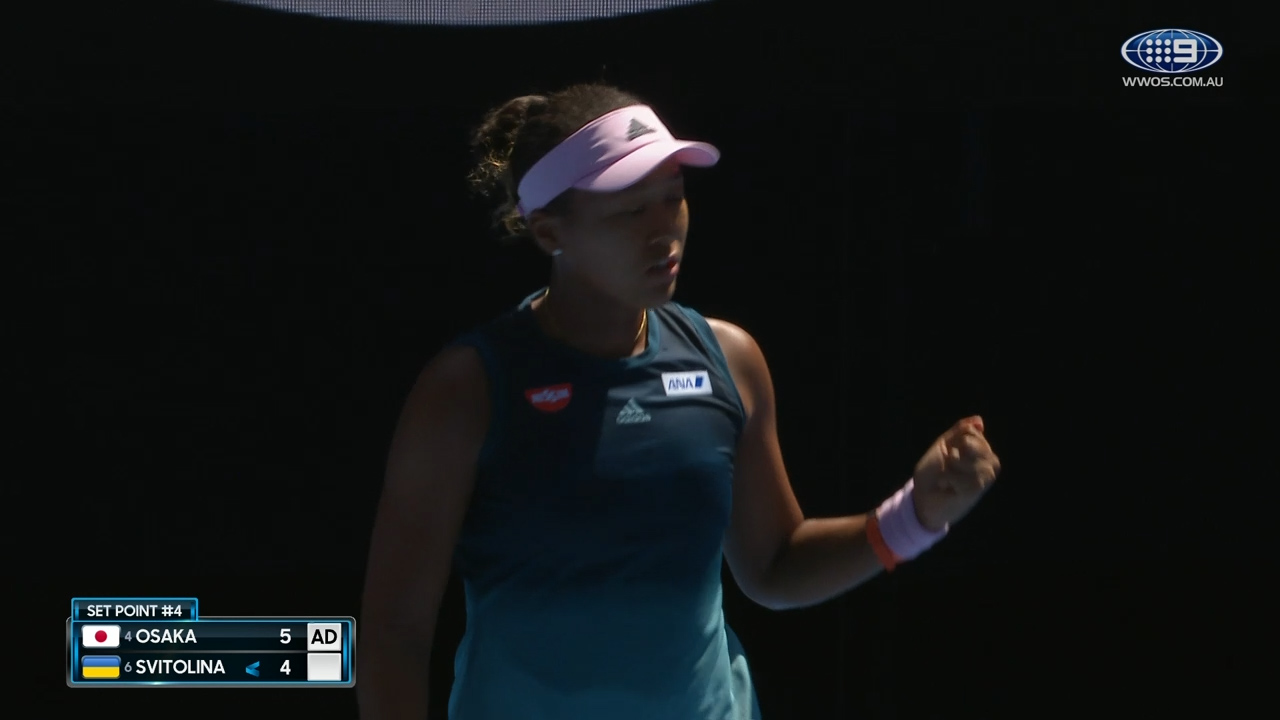 Osaka claims first set over Svitolina