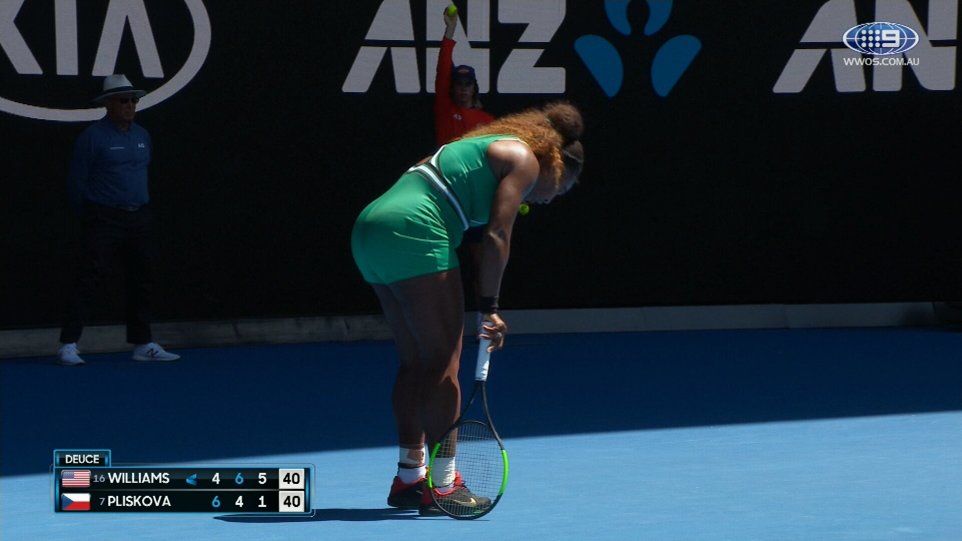 Serena's ankle injury scare