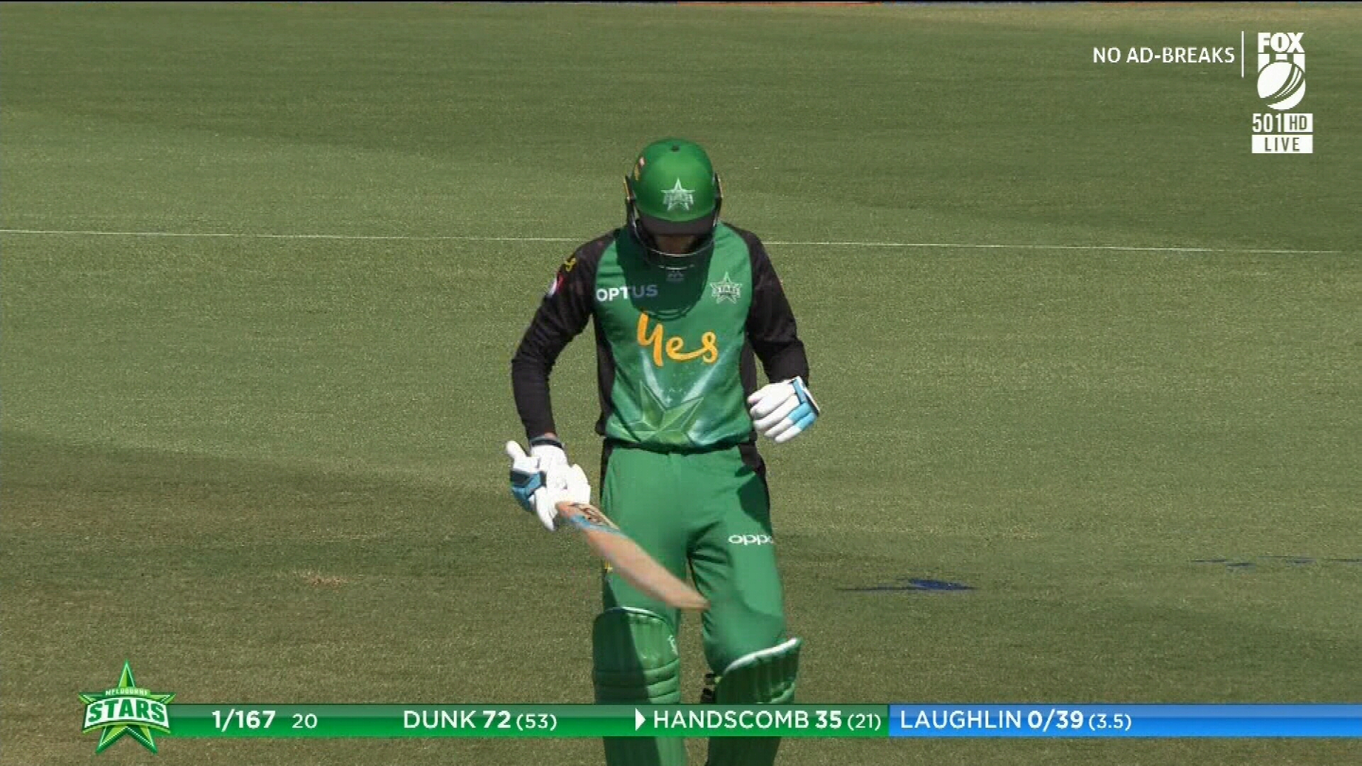 Handscomb shocked by run out