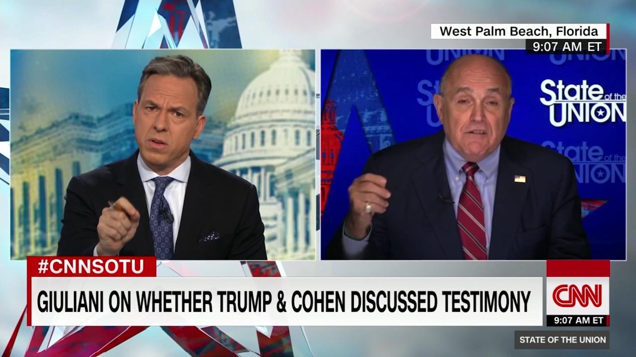 """Donald Trump lawyer Rudolph Giuliani describes Michael Cohen as a """"serial liar"""""""