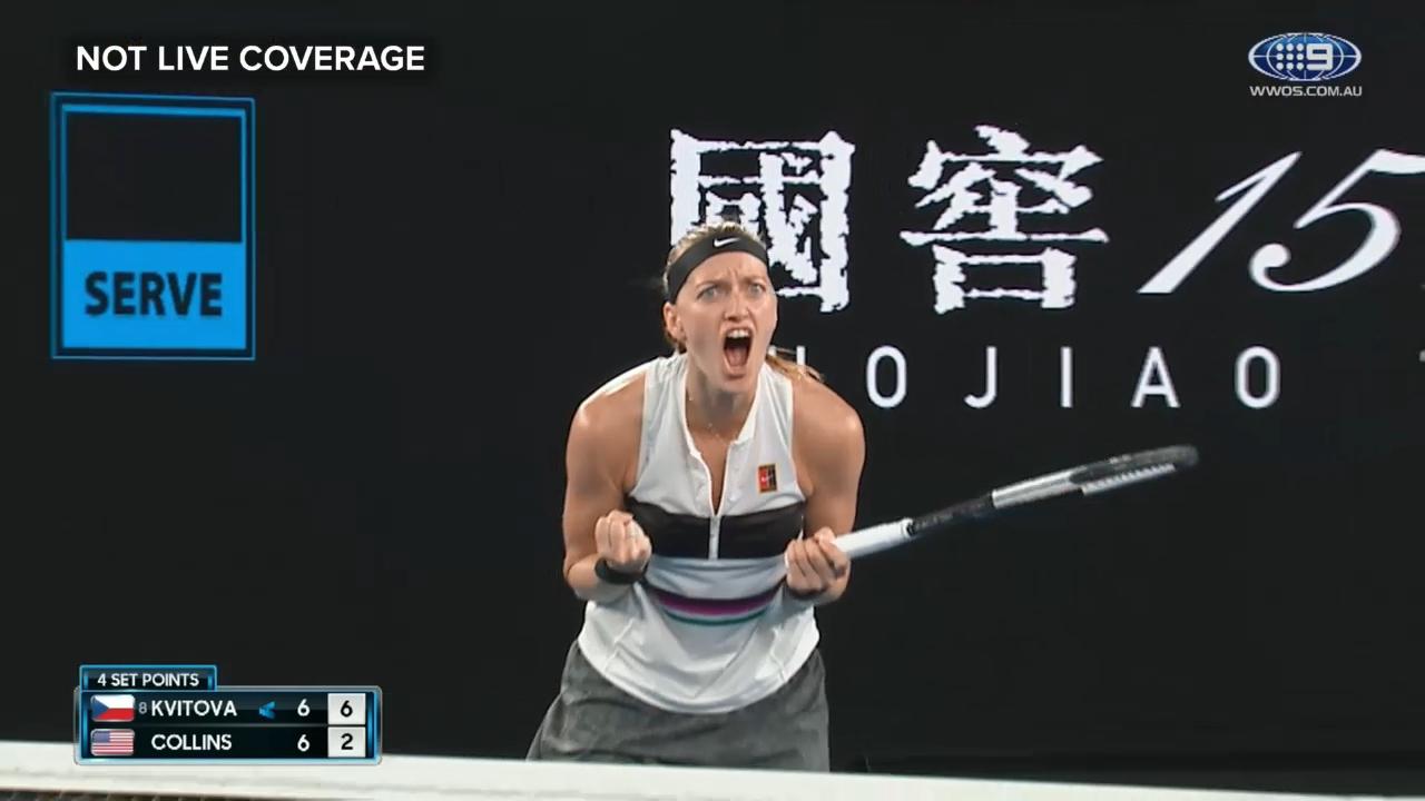 Kvitova takes opening set