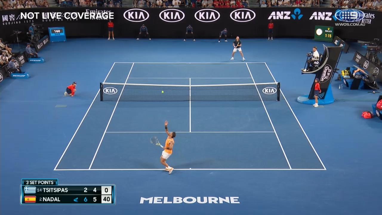 Nadal seals second set