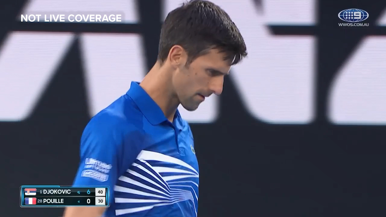 Djokovic strolls in opening set