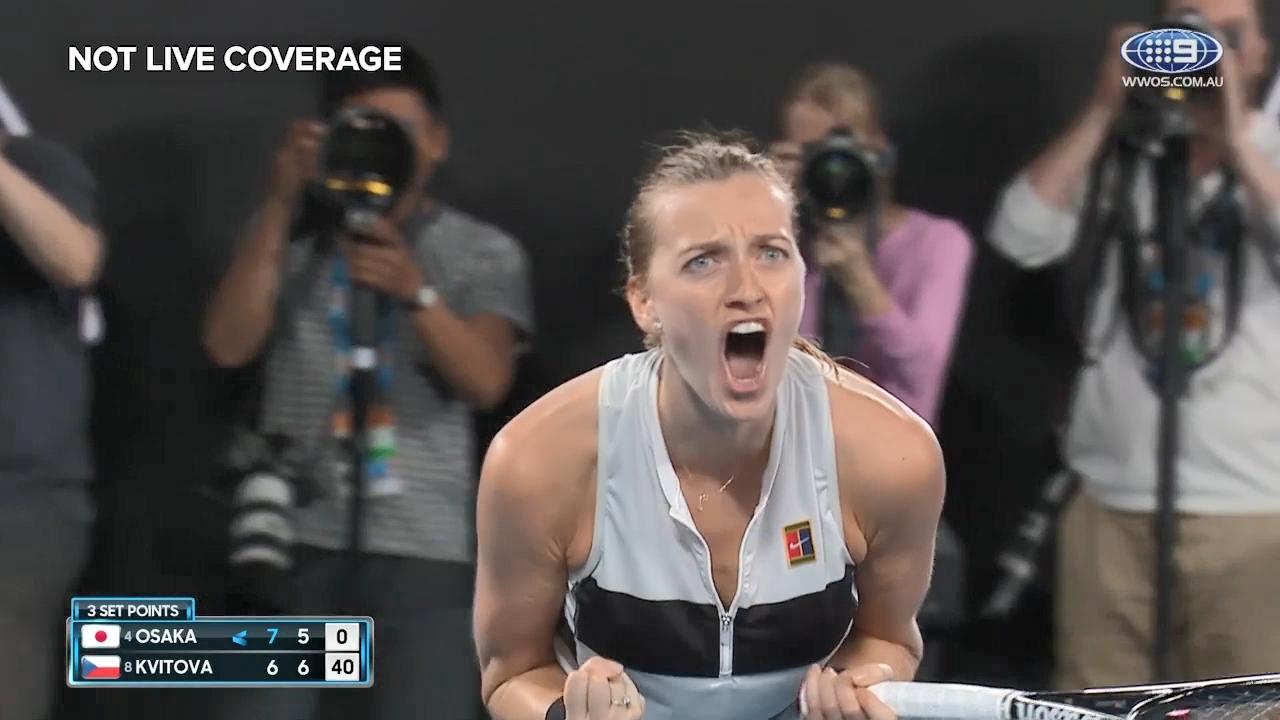 Kvitova ties up the match