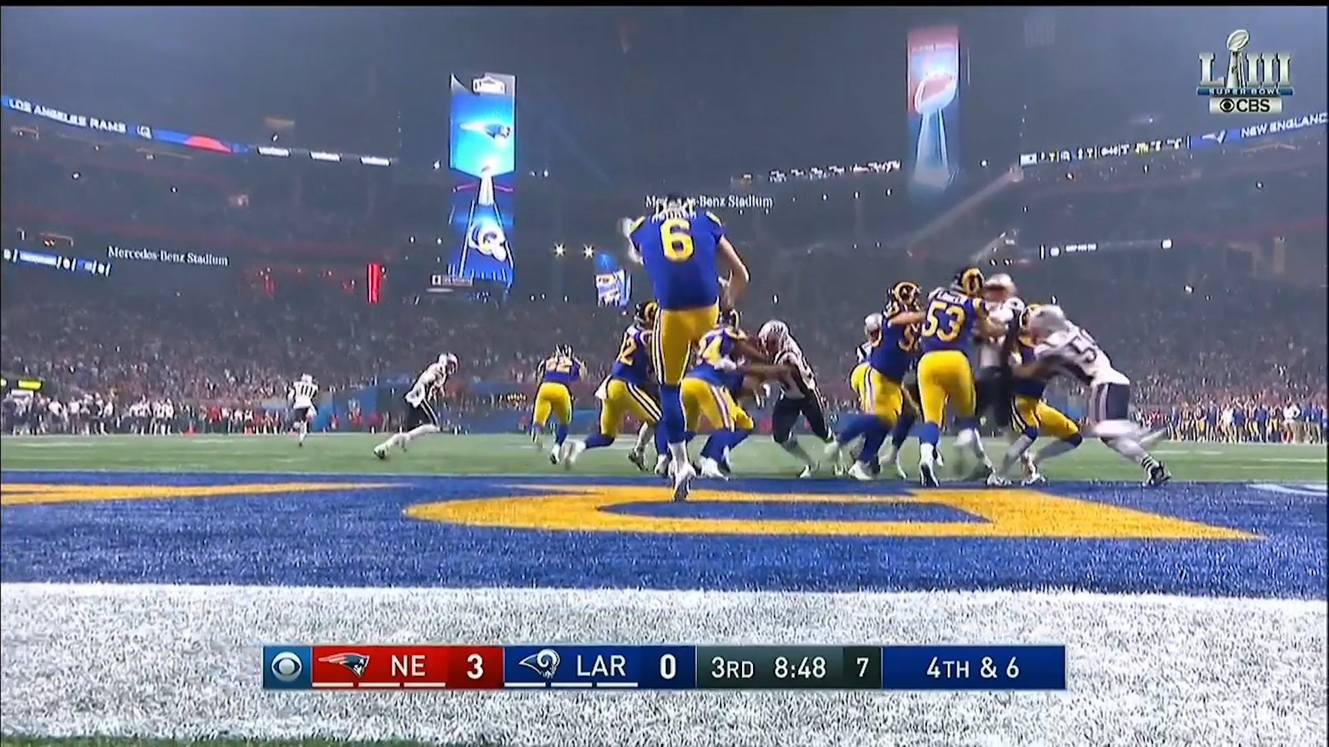 Hekker makes Super Bowl record punt