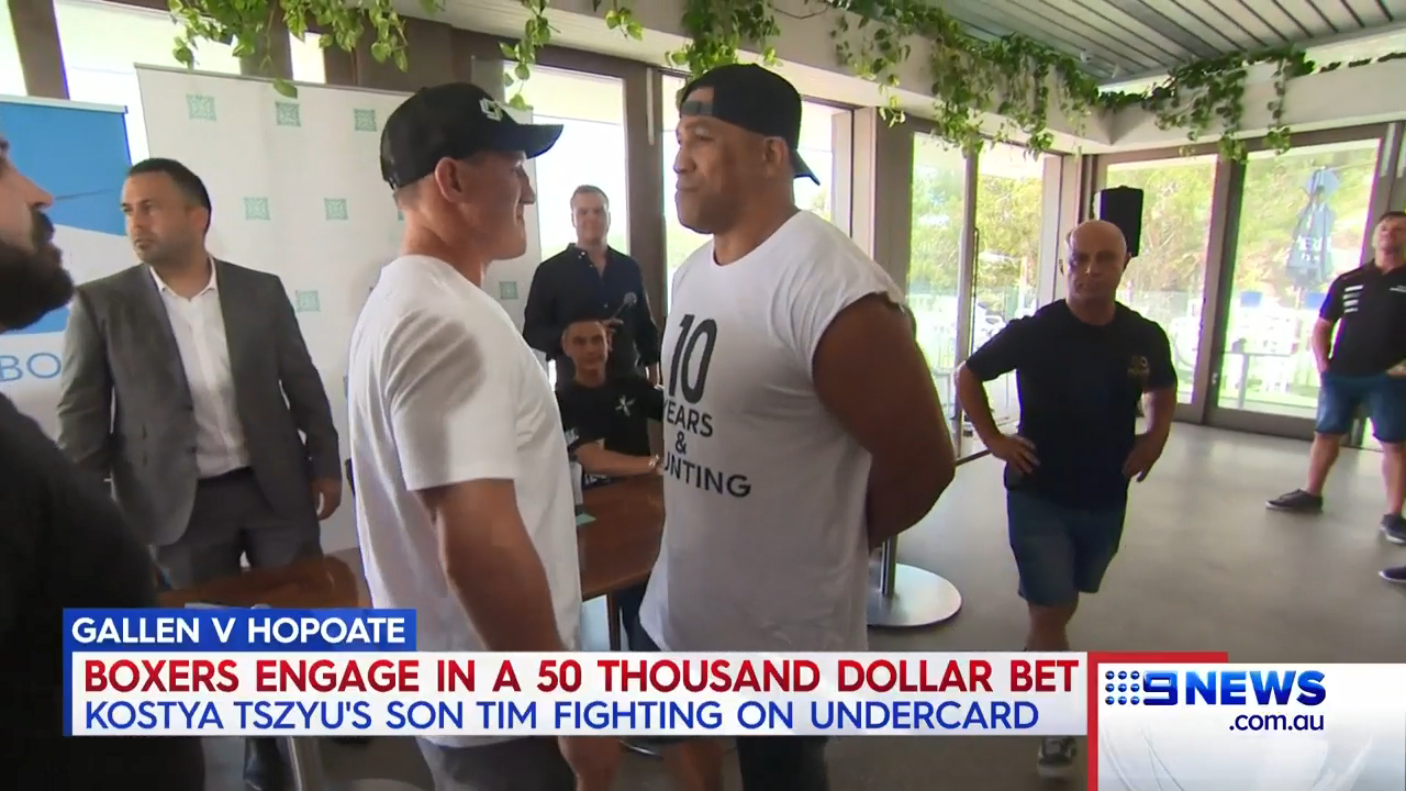 Hopoate and Gallen set to put money on the line