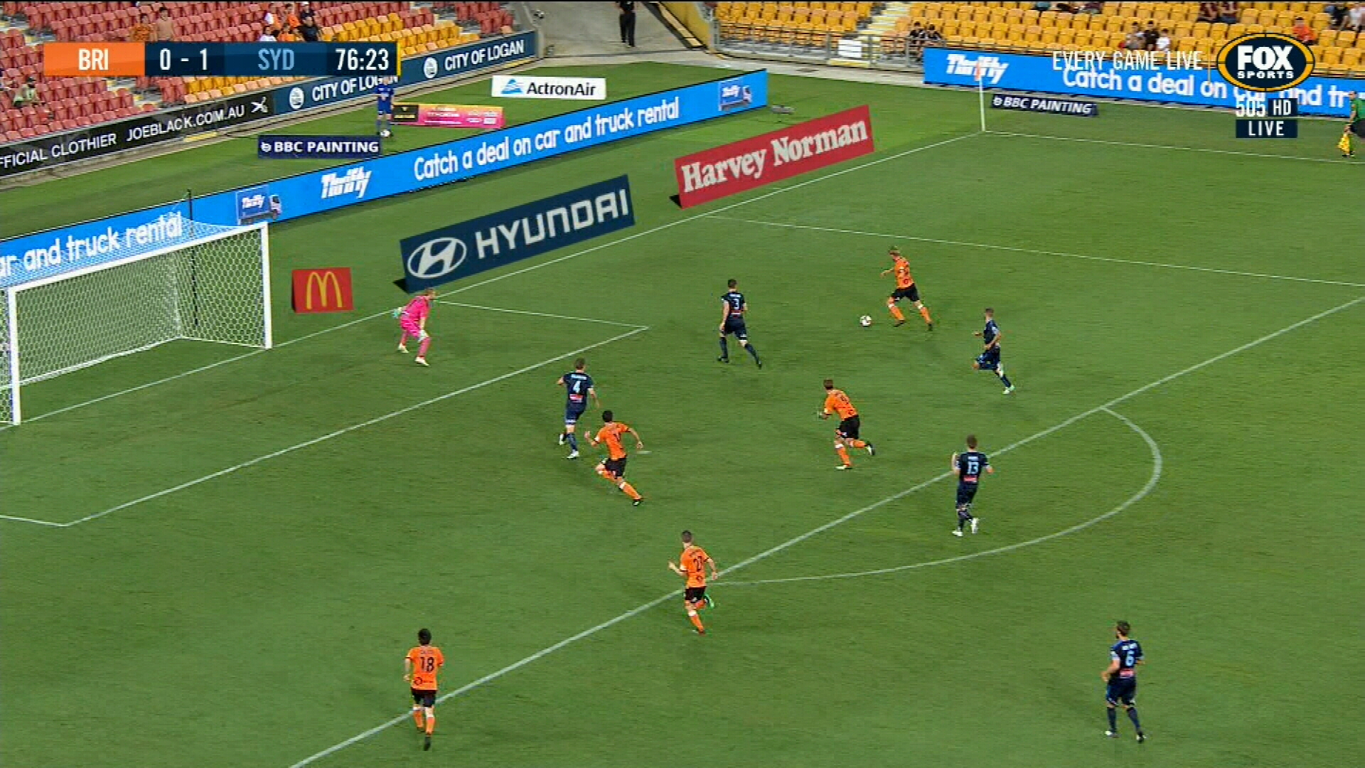 Super strike seals Brisbane upset victory