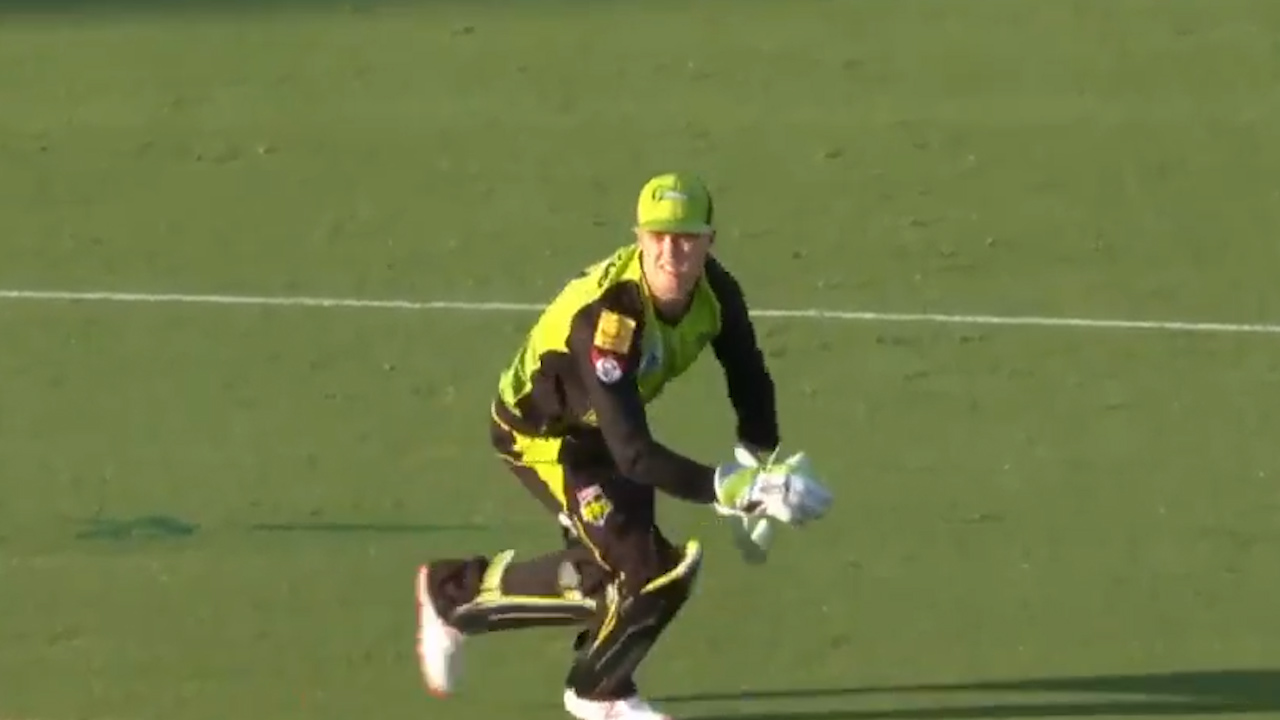 Cummins gets the wicket of Wade