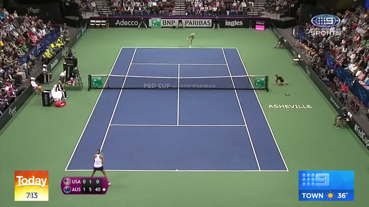 Barty puts Australia 2-1 up vs USA