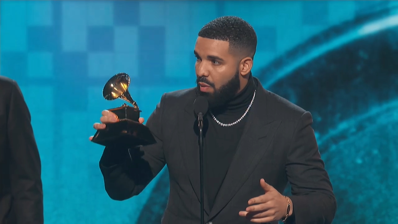 Drake gives controversial speech after Grammys win