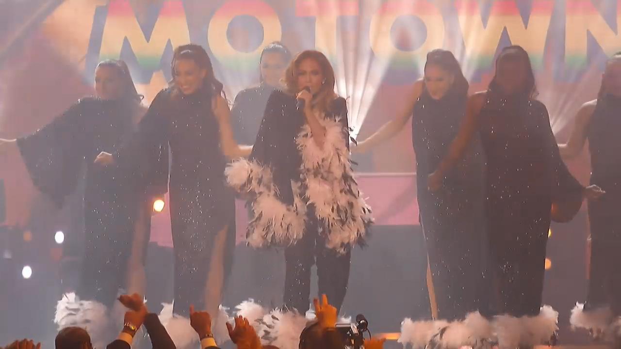 Jennifer Lopez performs Motown tribute at Grammys