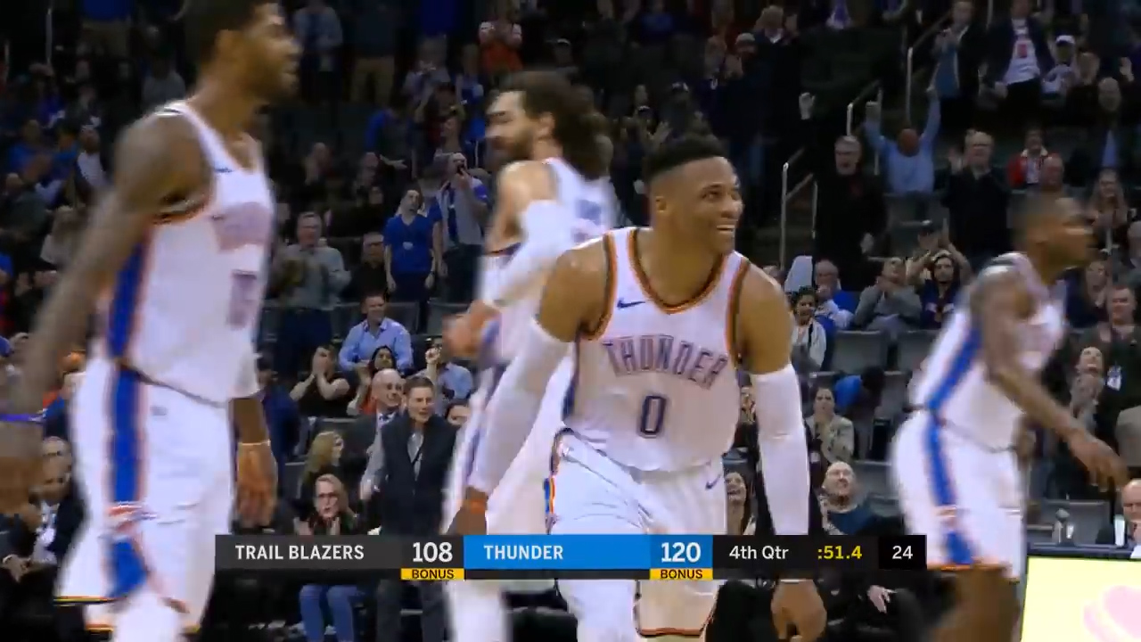 Westbrook keeps triple-double streak going