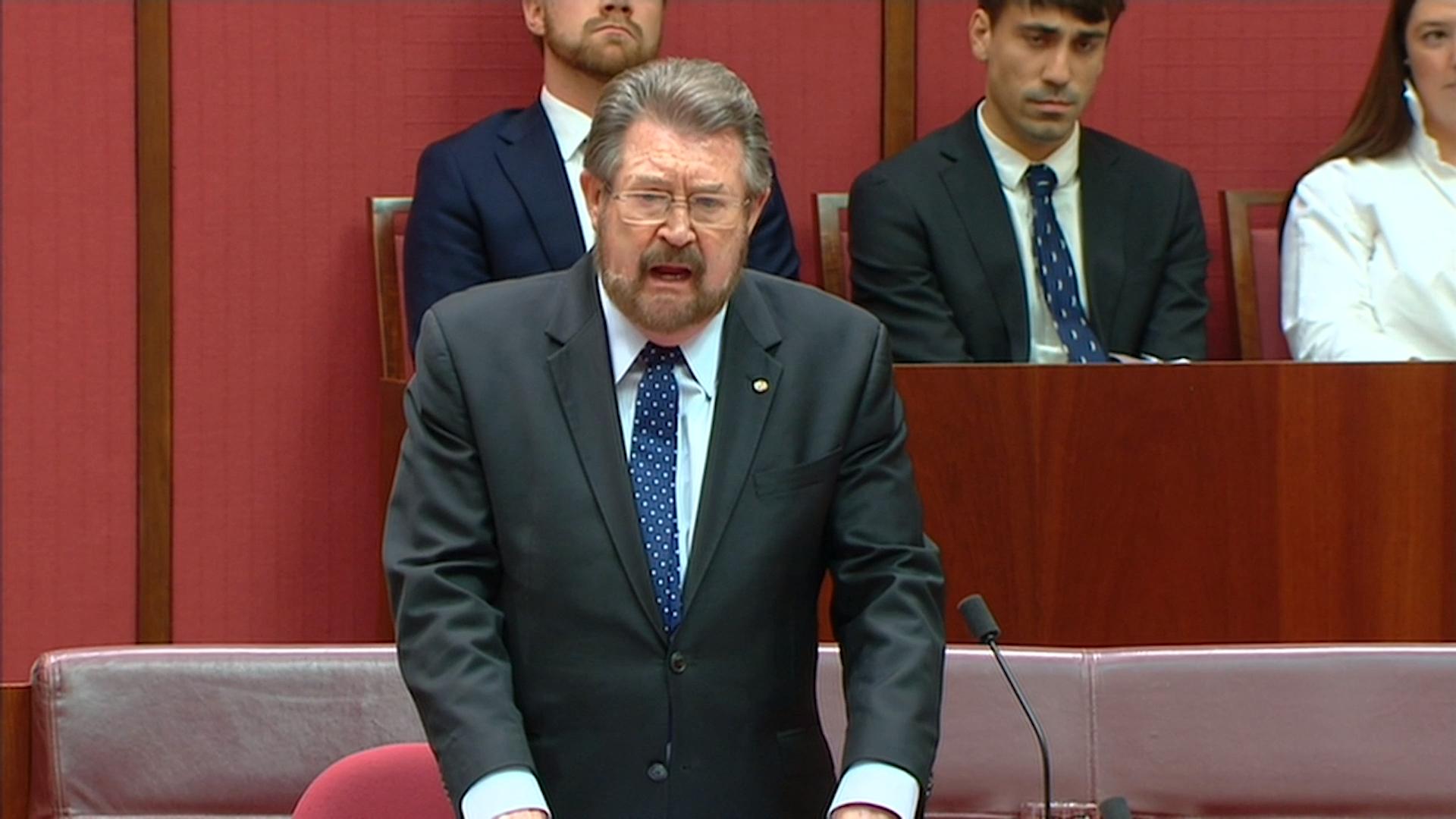 Medivac Bill: Derryn Hinch Medivac Bill Speech In Senate