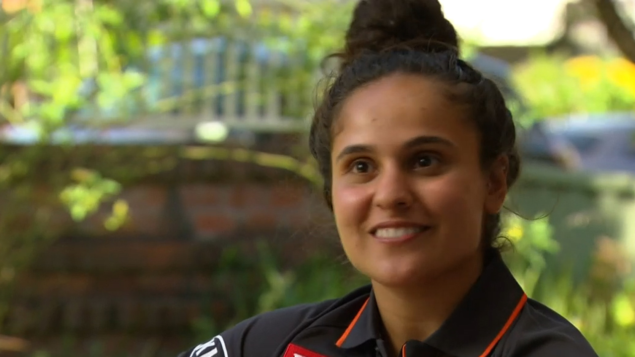 Giants star reveals hurdles to reaching AFLW dream