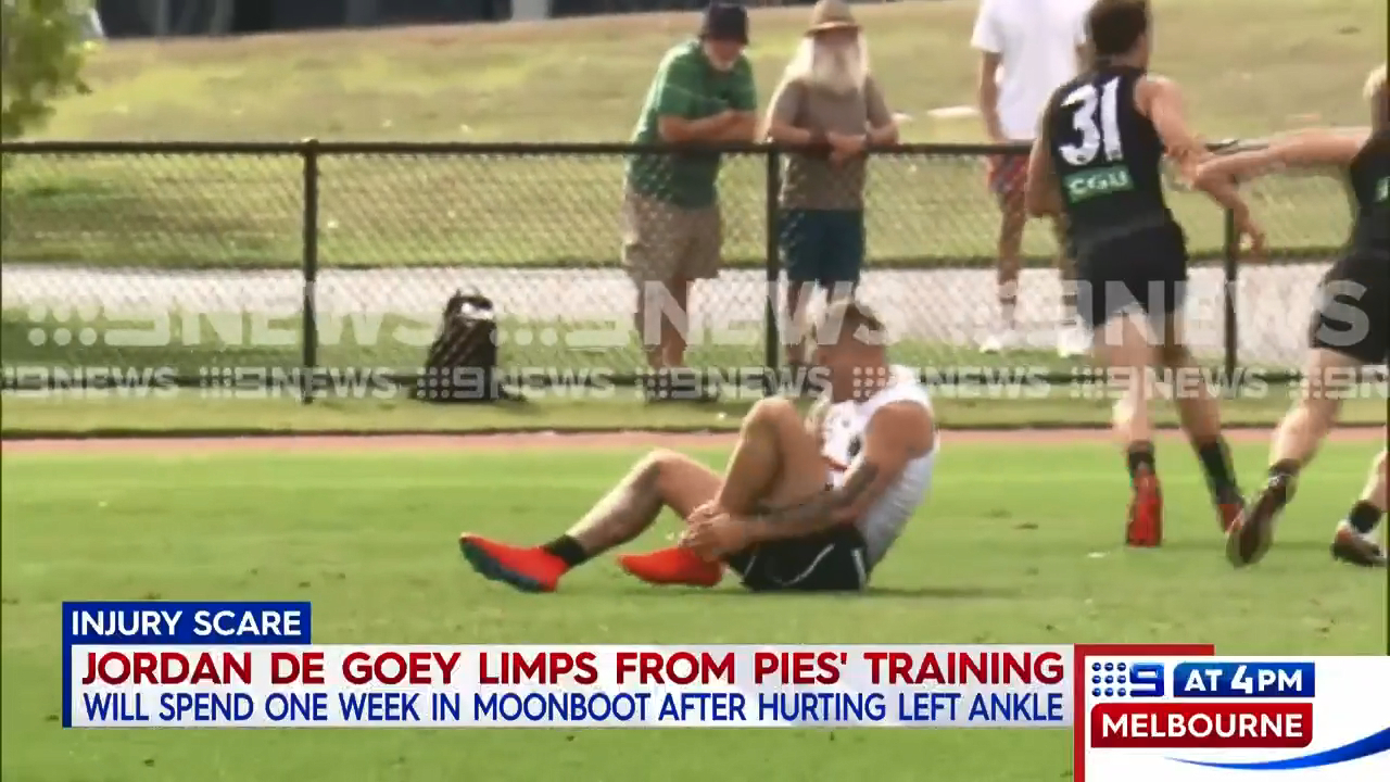 De Goey suffers training mishap