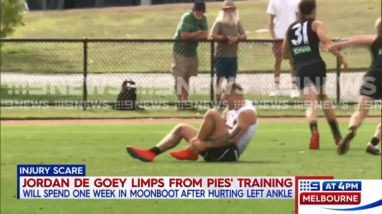 De Goey suffers training mishap