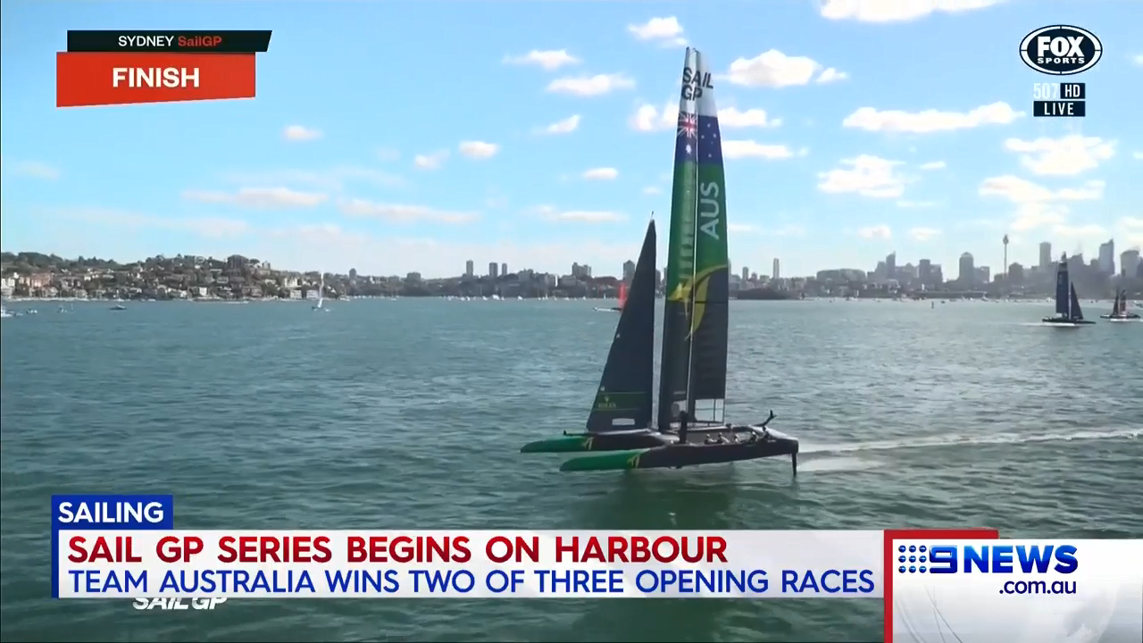Team Australia's successful Sail GP start