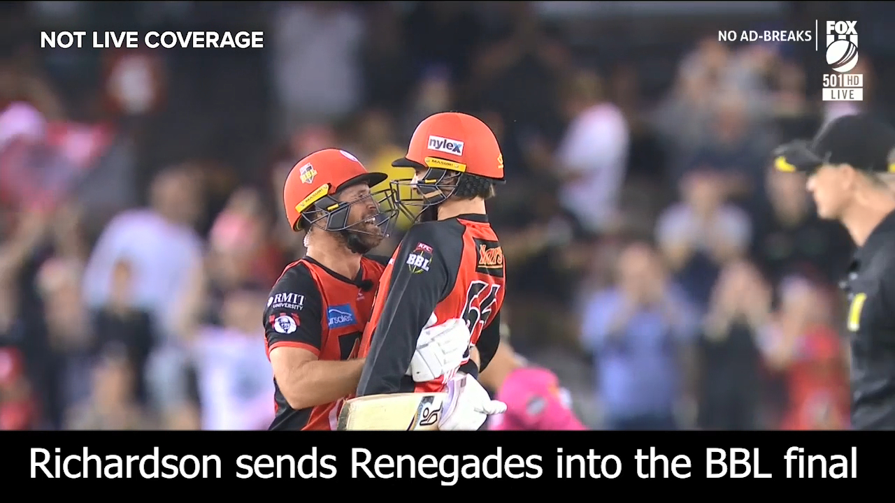 Richardson sends Renegades into the final