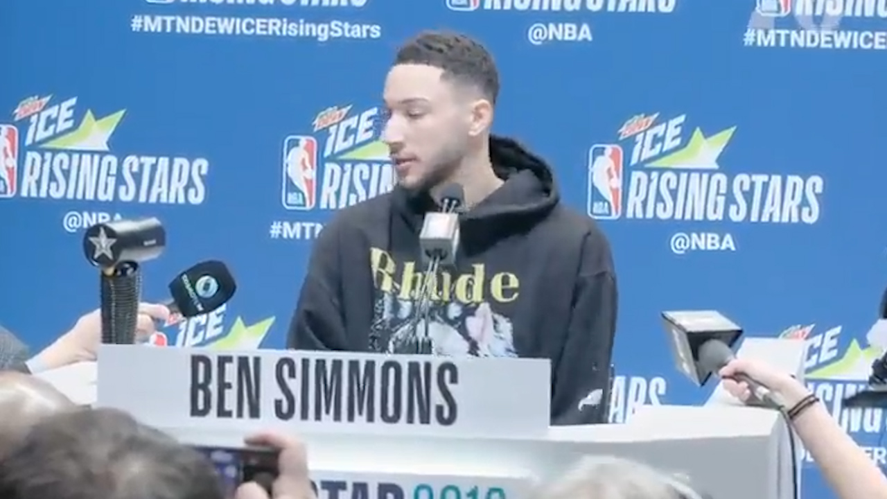 Simmons fronts press at NBA All-Star weekend
