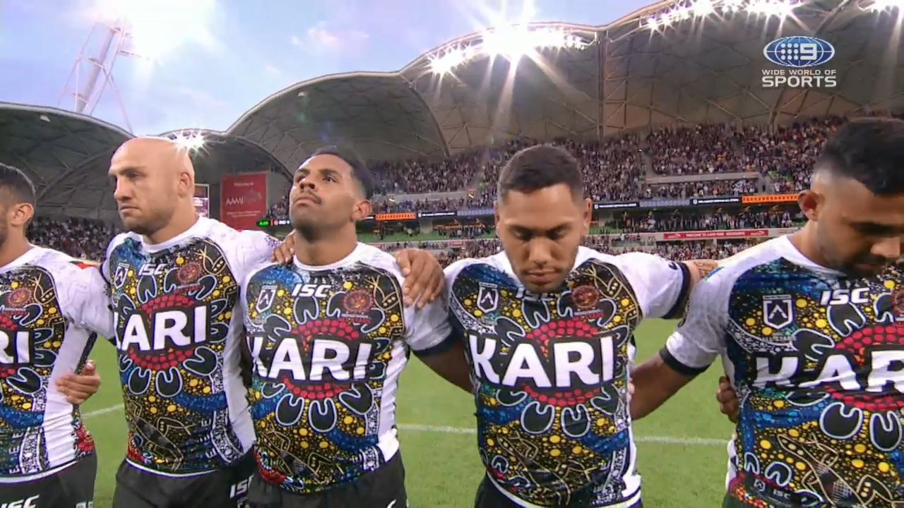 Indigenous stars subdued rendition of anthem