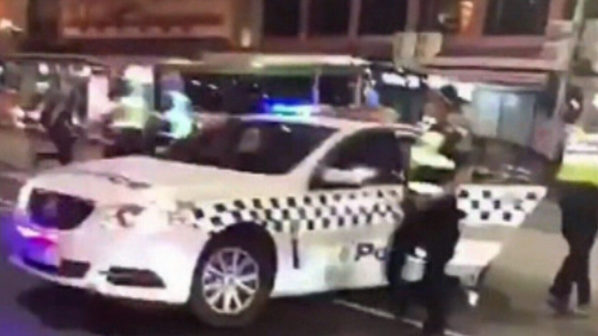 Violent brawl caught on camera outside Flinders Street Station