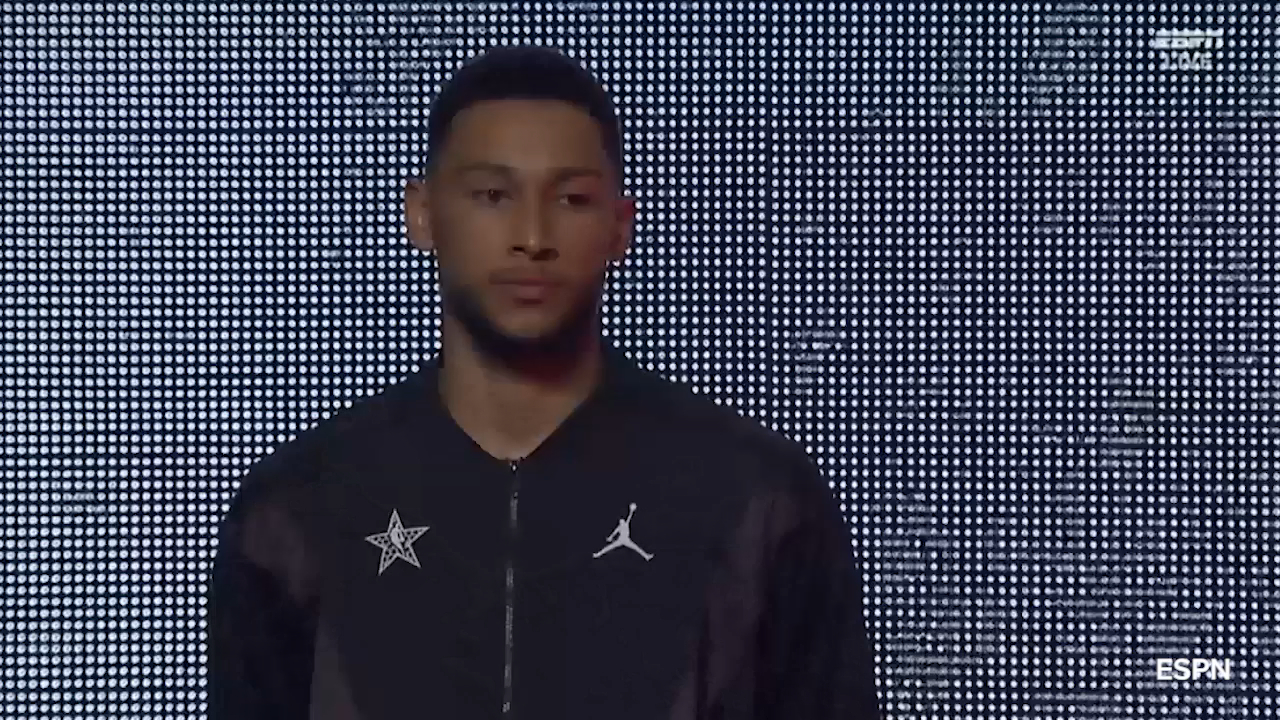 Simmons' All-Star introduction