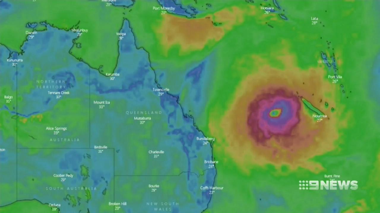 Tropical Cyclone Oma barrels closer to the coast