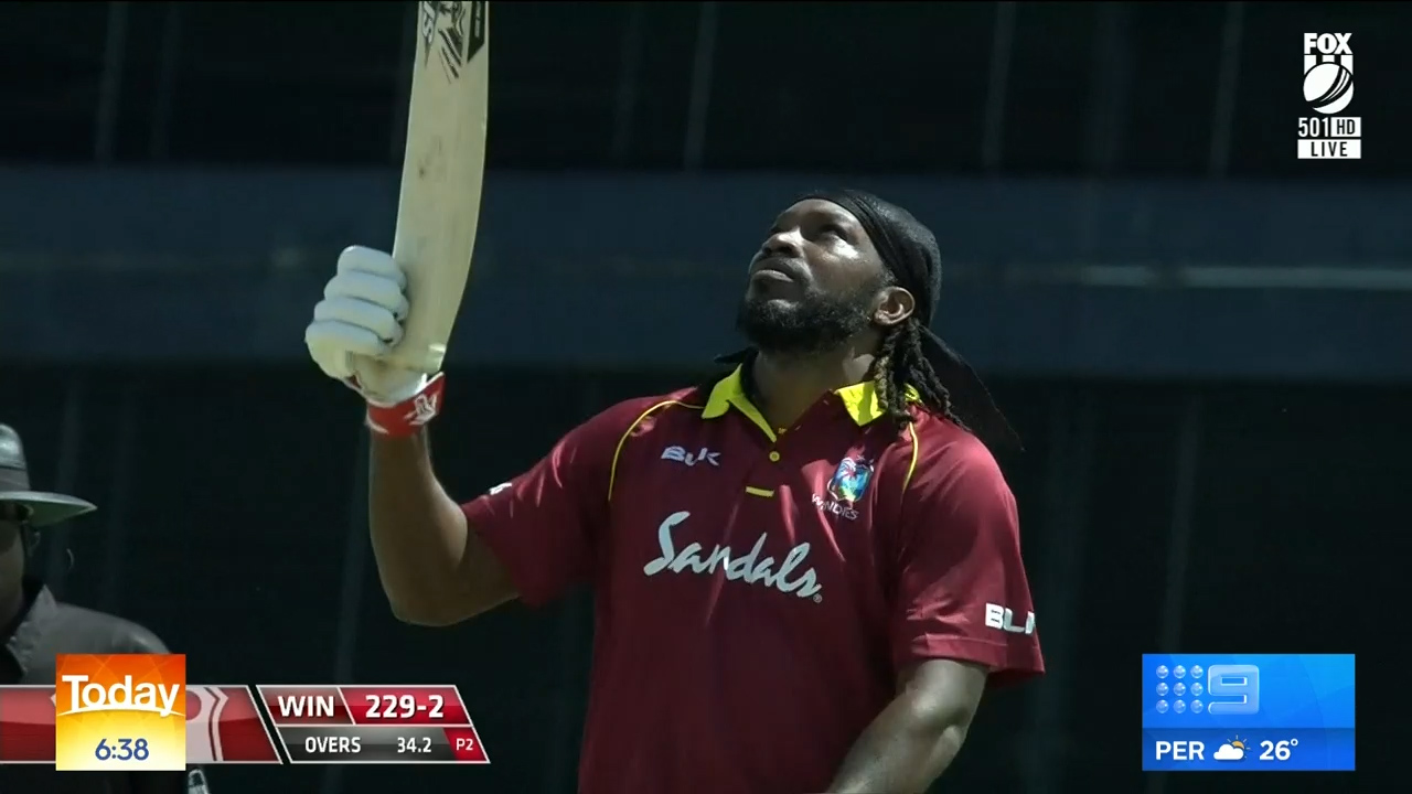 Gayle smashes England for six