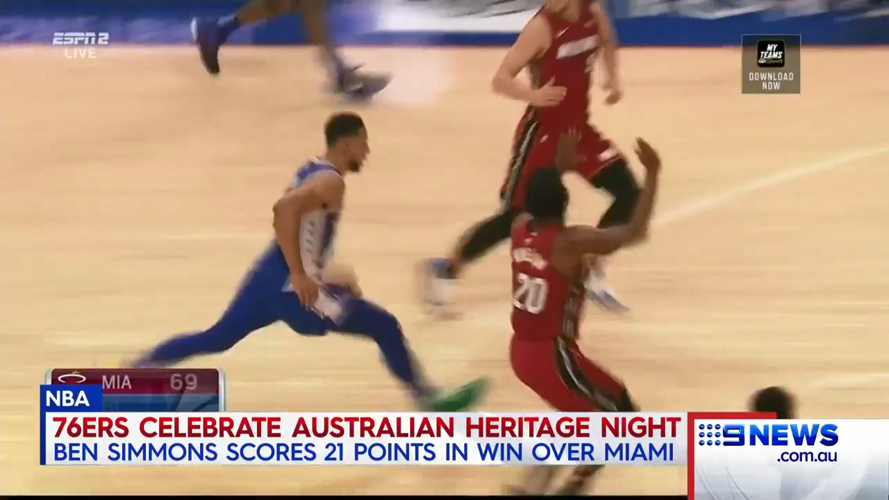 Simmons dominates on Australian Heritage Night
