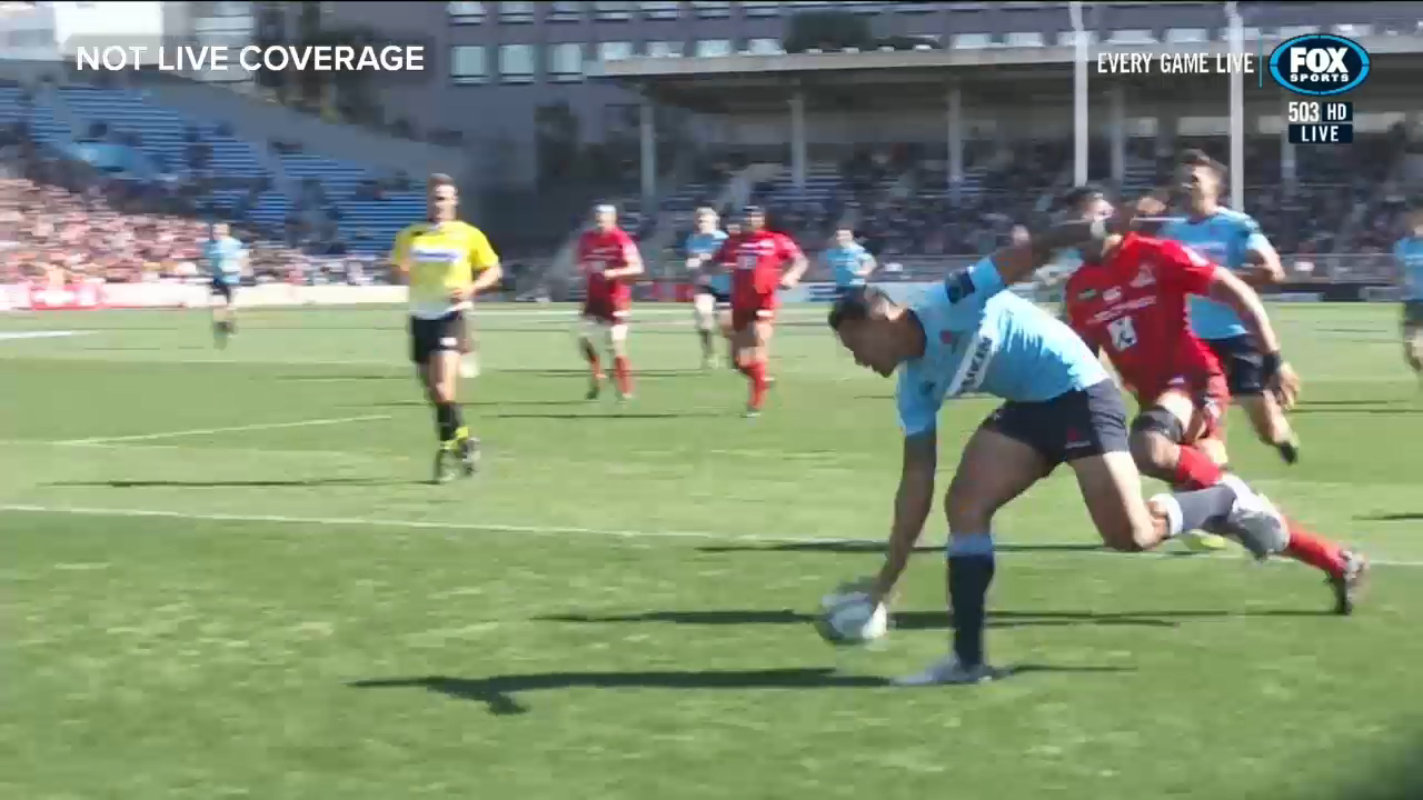 Folau's record-breaking try