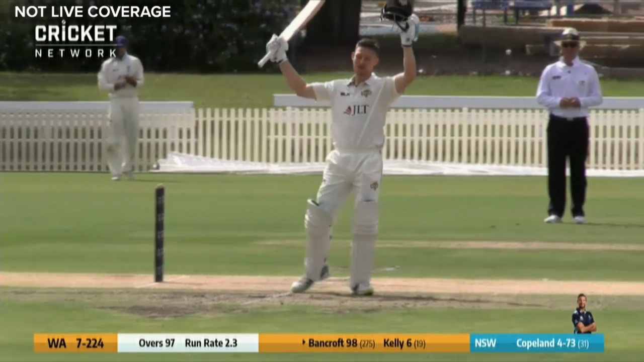 Bancroft scores Shield ton in return from ban