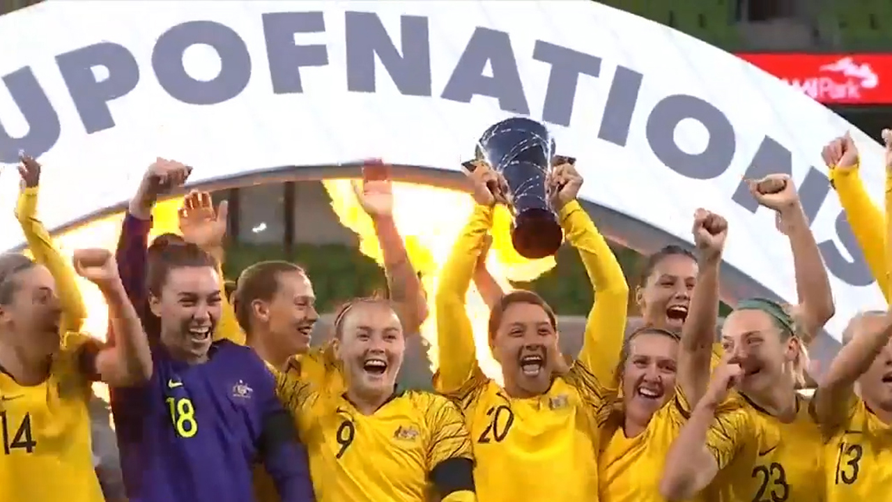Matildas seal Cup of Nations title
