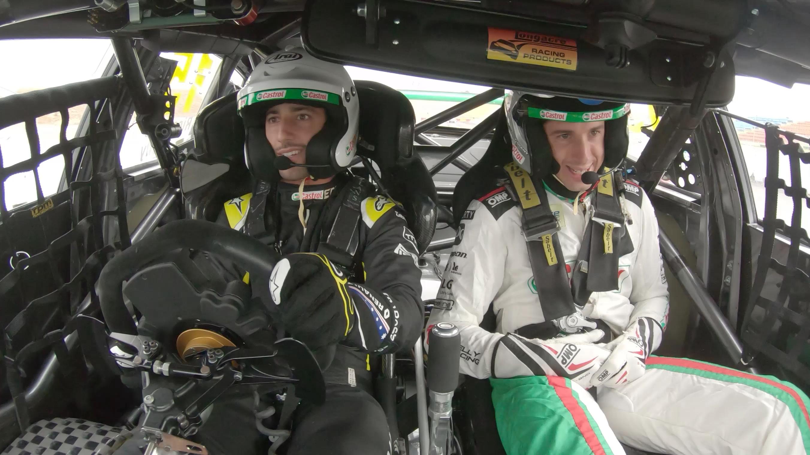 Ricciardo takes Castrol Supercar for a spin