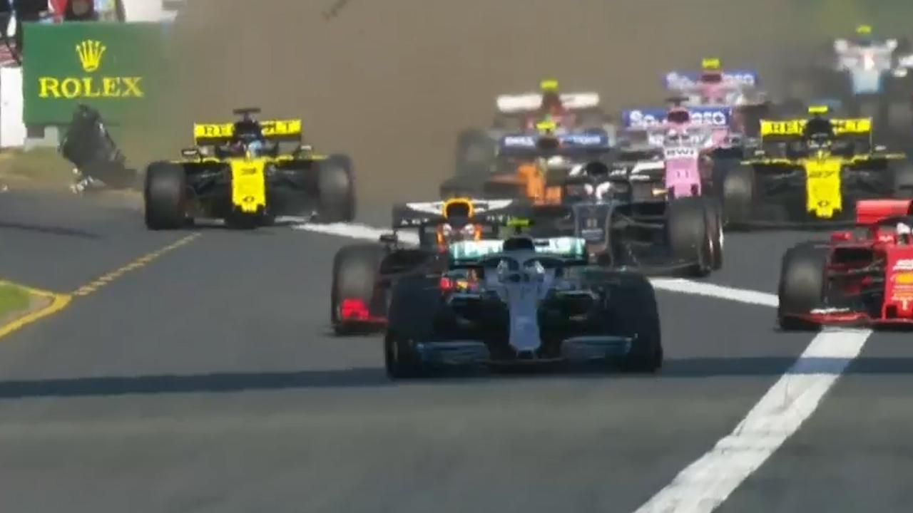 Ricciardo in opening lap carnage