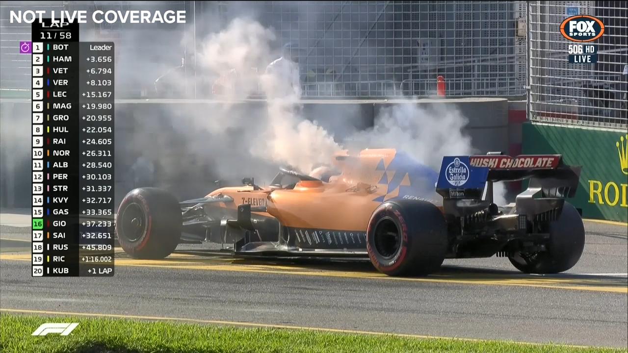 Sainz retires early