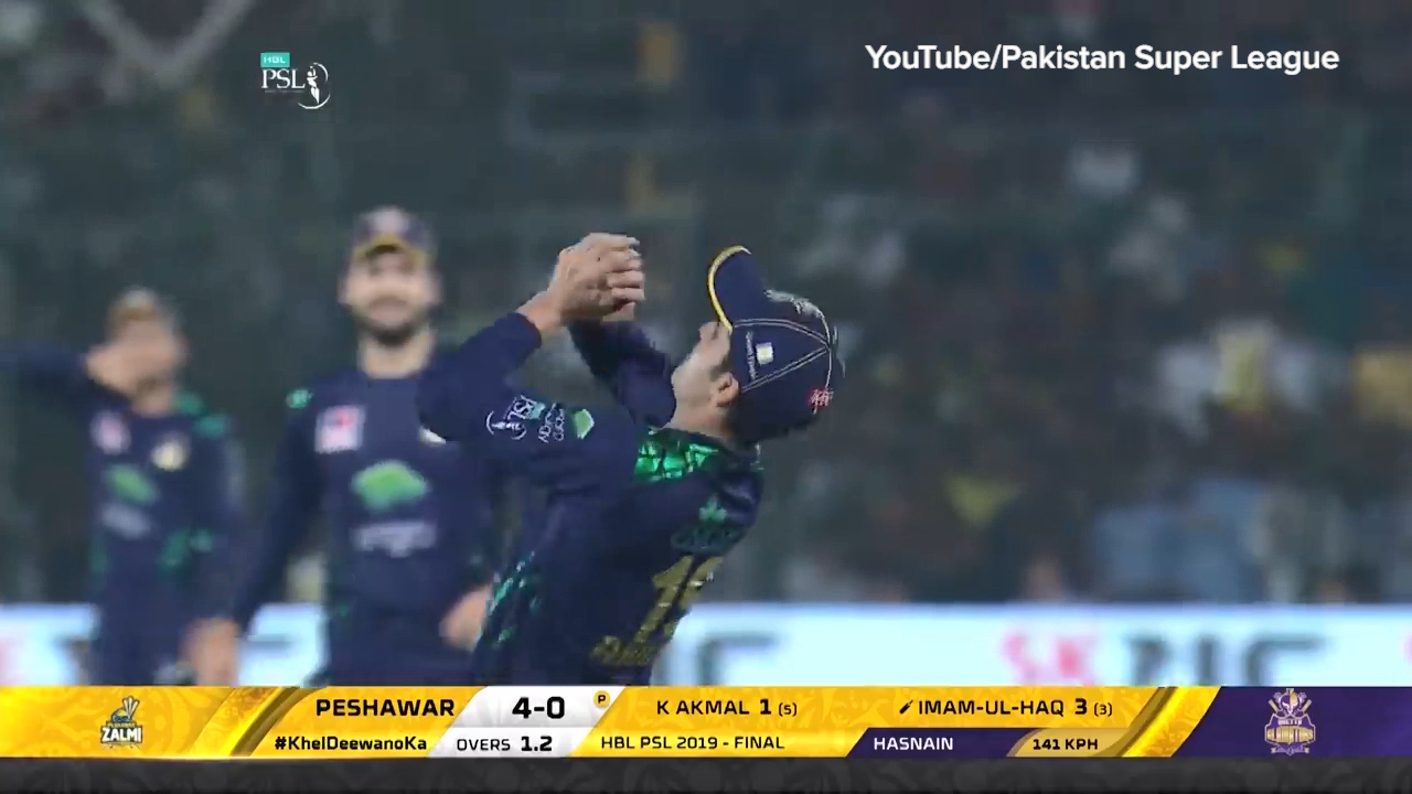 Hasnain's PSL final man-of-the-match performance
