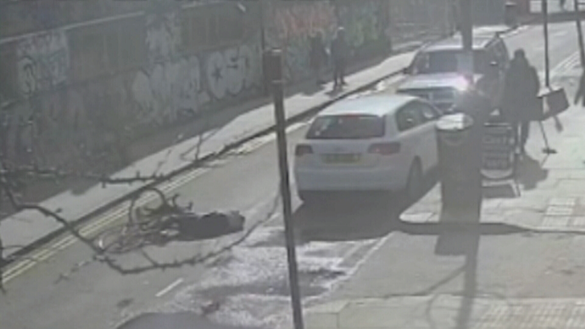 Man critical after being kicked off bike by fellow cyclist in London